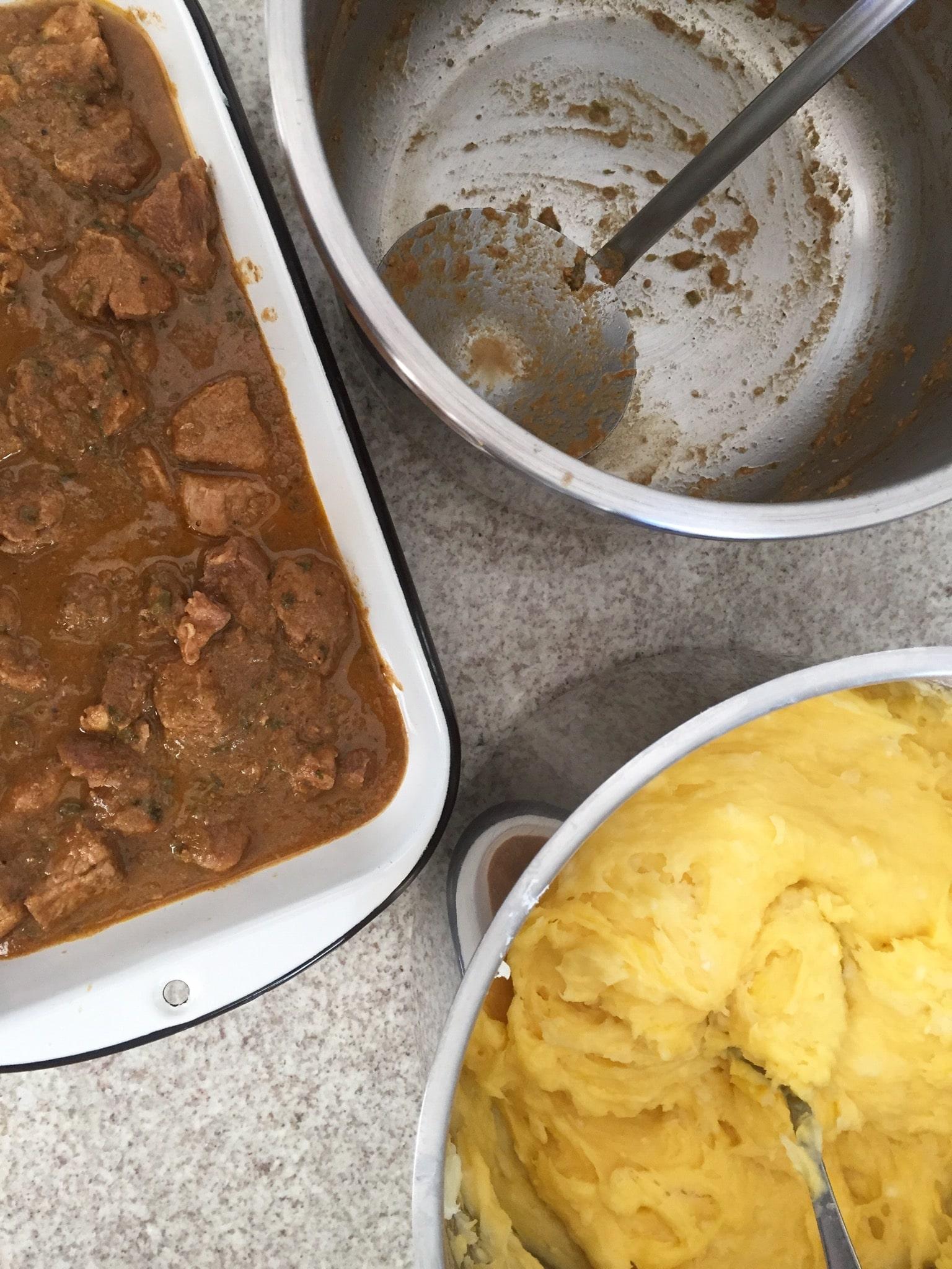 pastel de cerdo y yuca